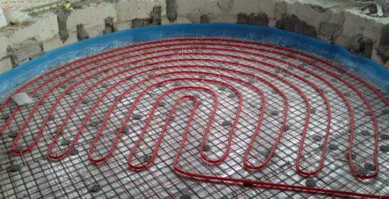 Приклад монтажу теплої підлоги